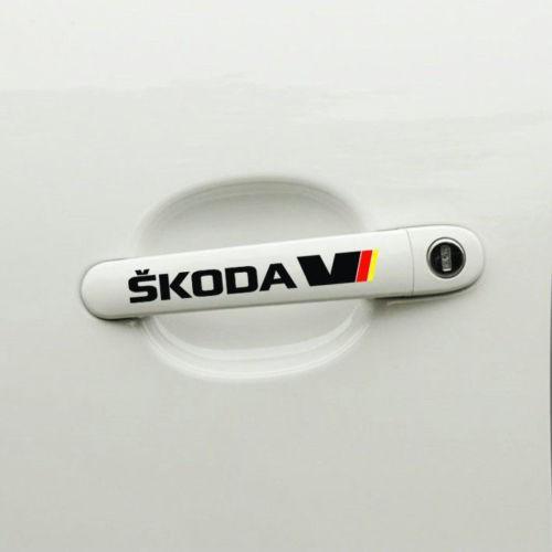 Sticker manere usa - Skoda (set 4 buc.)