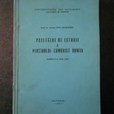 TITU GEORGESCU - PRELEGERI DE ISTORIE A PARTIDULUI COMUNIST ROMAN