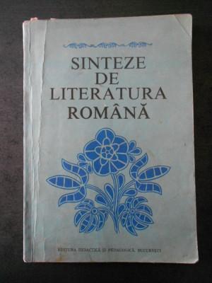 VIOREL ALECU - SINTEZE DE LITERATURA ROMANA foto