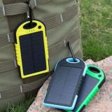 Baterie externa solara, 10000 mAh, rezistenta la socuri si apa