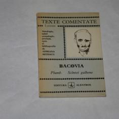 Bacovia - Plumb - Scantei galbene - Texte comentate - 1976