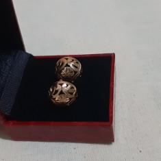 Cercei aur romanesti vintage