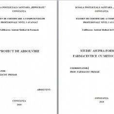 LUCRARE DE LICENTA AMF – STUDIU ASUPRA FORMELOR FARMACEUTICE CU METOCLOPRAMID