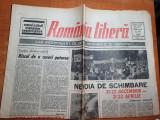 romania libera 24 aprilie 1990-miting de comemorare a eroilor revolutiei