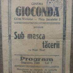 Program Cinema Gioconda/ 1948