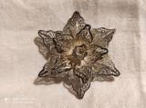 BROSA argint FLOARE de COLT in filigran VECHE manopera EXCEPTIONALA rara SUPERBA