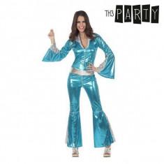 Costum Deghizare pentru Adulți Disco Luciu Albastru