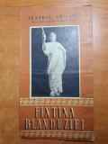 Program teatrul armatei anii '60-fantana blanduziei-george vraca