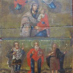 Fecioara Maria şi Pruncul Iisus, Icoană pictată pe lemn (veche)