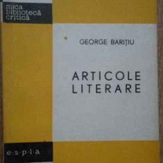 Articole Literare - George Baritiu ,278920