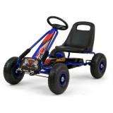 Cumpara ieftin Go-Kart cu pedale si roti gonflabile Thor Blue, Milly Mally