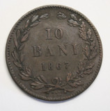 10 BANI 1867 WATT&Co ., Cupru (arama)