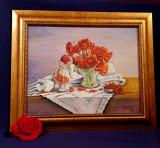 """""""Perle de foc""""/ tablou in ulei pe panza"""