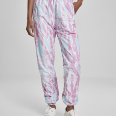 Pantaloni de trening Tie Dye pentru Femei aquablue-roz Urban Classics