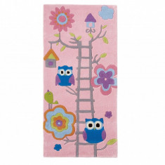 Covor Owl on Ladder Pink 70x140 cm