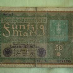 50 Mark / Marci 1919 si 100 Mark / Marci 1910 GERMANIA - Lot de 2 Bucati