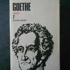 GOETHE - OPERE volumul 7 PROZA