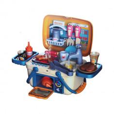 Set gratar de jucarie pentru copii, 2 in 1, accesorii pentru petrecerea de gratar, 30 piese