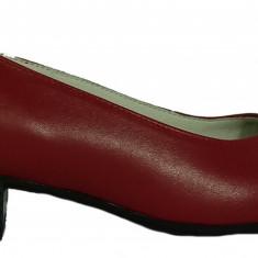 Pantofi dama casual din piele naturala de culoare rosie Ninna 234