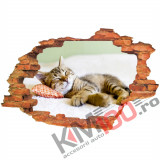 "Sticker ""Wall Crack"" Cat 7 - 120 x 80 cm"