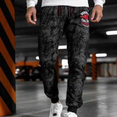 Pantaloni trening bărbați negru MK18