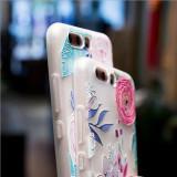 Husa de telefon cu imprimeu cu flori si pasari pentru Huawei P10/p10lite/p8lite/p9lite