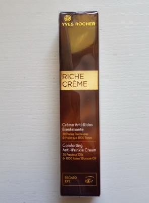 RICHE CREME Crema antirid ochi 30 de uleiuri pretioase Yves Rocher foto