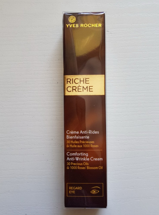 RICHE CREME Crema antirid ochi 30 de uleiuri pretioase Yves Rocher