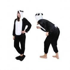 Costum Urs Panda cu gluga pentru carnaval sau petreceri, marime S, culoare Alb – Negru