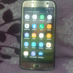 SMARTPHONE SAMSUNG GALAXY S7 PERFECT FUNCTIONAL SI DECODAT CU PROBLEME ESTETICE, Auriu, Neblocat