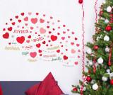 Sticker Christmas Hearts - Walplus, Multicolor