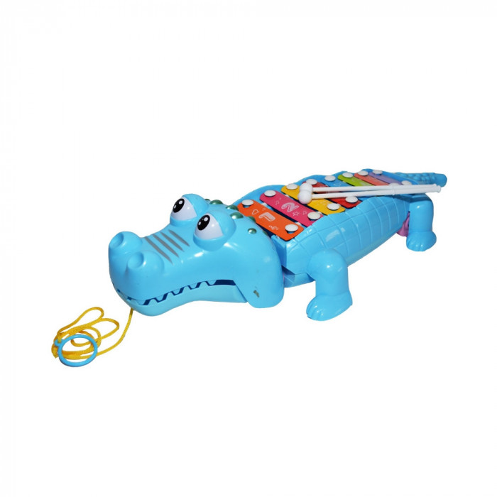 Xilofon de jucarie cu Crocodil 7 note