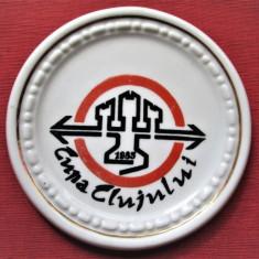 Placheta / Medalie din Portelan, Cluj 1985:  Cupa Clujului