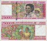 1998, 25.000 francs (P-82) - Madagascar