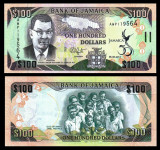 !!! JAMAICA - 100 DOLARI 2012 , COMM. - P 90 - UNC