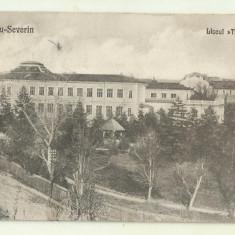 cp Turnu-Severin : Liceul Traian - 1927, circulata,timbre