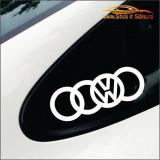 Audi-Volkswagen   -Stickere Auto-Cod:ESV-214 -Dim    15 cm. x 5.2 cm.