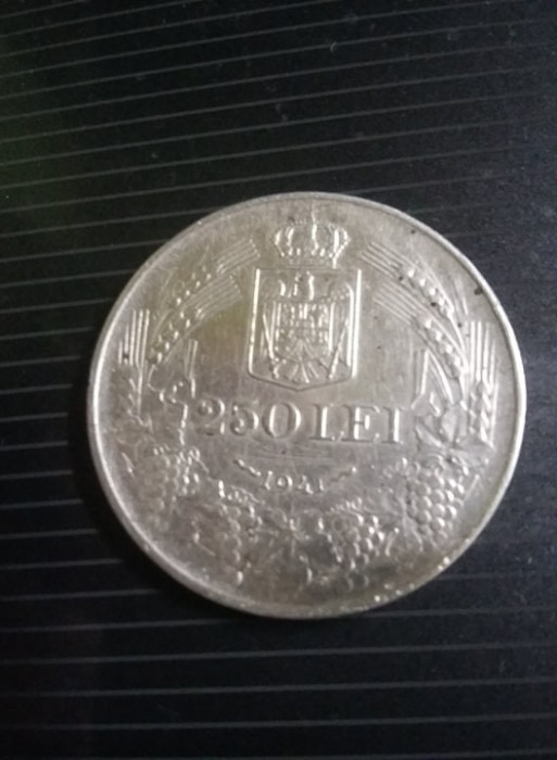 Moneda 250 lei 1941,Moneda veche ARGINT,T.GRATUIT