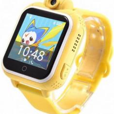 Smartwatch iUni Kid730, 1.54inch, GPS, 3G, Bratara silicon (Galben)