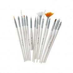 Set 15 pensule pentru acryl si gel, instrument puncte inclus