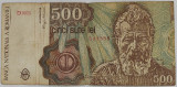 Bancnotă 500 lei Constantin Brâncuși aprilie 1991