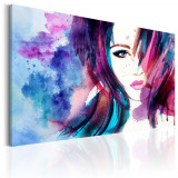 Tablou canvas - Fata acuarela - 90 x 60 cm, Artgeist