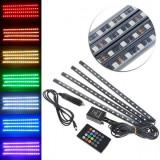 Set 4 benzi LED cu telecomanda inclusa