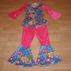 costum carnaval serbare hippy pentru copii de 6-7 ani