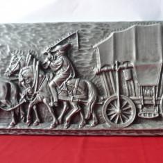 TABLOU BASORELIEF DIN ZINC 60/24 cm.