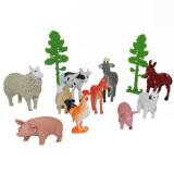 Jucarie Set ferma de animale si pasari de curte cu copaci
