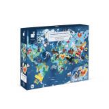 Puzzle educativ - Fiinte vii mistice - 350 de piese, Janod J02680