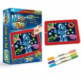 Tableta pentru desen cu 8 efecte luminoase si 3 carioci neon incluse