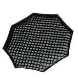 Softbox octogonal octobox 95cm cu deschidere tip umbrela montura Bowens si grid, Generic