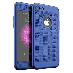 Husa Ipaky Air Plus 360 Grade Ultra Slim iPhone 7 Albastru Folie Sticla Inclusa